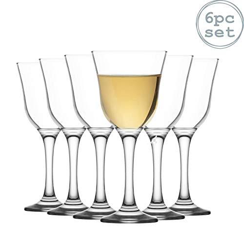 La-V Verres à vin Blanc Vals - Style Vintage - 250 ML - Lot de 6