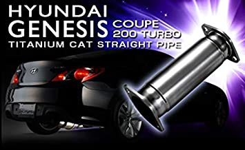 Tomei Ti Titanium Cat Straight Pipe for Hyundai Genesis Coupe 200 Turbo