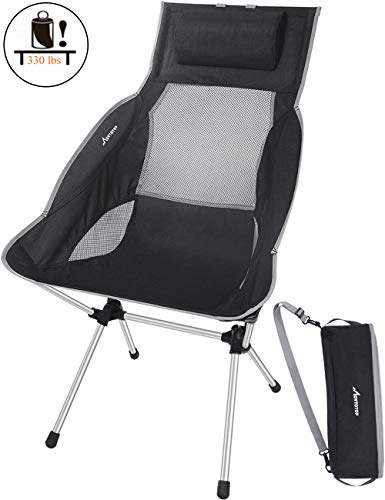 MOVTOTOP Camping Chair Folding Camping Chair with Adjustable Pillow amp Carry Bag Lightweight Foldable High Backrest Outdoor Compact Camp Chair for Picnic Fishing Hiking Backpacking Travel