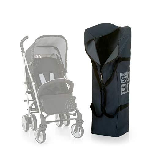 Hauck Bag Me - Bolsa de transporte para sillas de paseo, 115 x 31 x 31 cm, repelente de suciedad y liquidos, materiales resistentes, bolsa protectora para el coche y el avion, bolsa con asas, gris