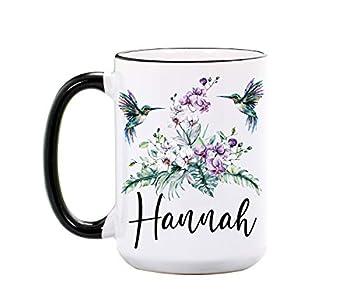 Hummingbird Mug - Personalized Large 15 oz or 11 oz Ceramic Cup - Hummingbird Gifts - Hummingbirds Coffee Mugs - Bird Cups - Dishwasher & Microwave Safe - Made In USA