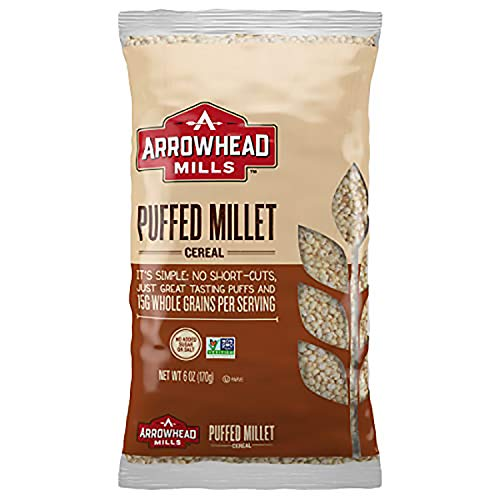 Arrowhead Mills Puffed Millet Cereal, 6 Ounce Bag (Pack of 12)