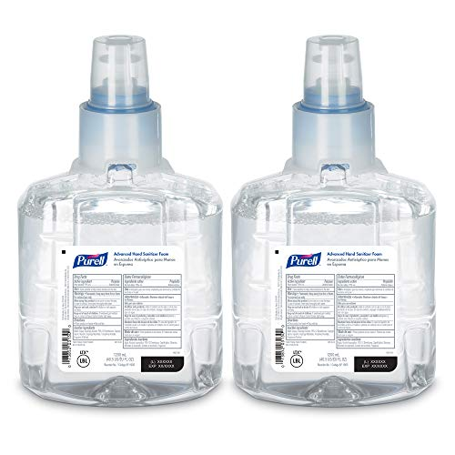 PURELL Advanced Hand Sanitizer Foam, 1200 mL Sanitizer Refill for PURELL LTX-12 Touch-Free Dispenser (Pack of 2) - 1905-02