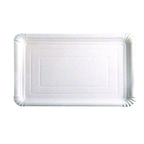 García de Pou Bandejas Pastelería Medianas, 30 x 21 cm, 125 Unidades, cartón, Blanco, 30 x 30 x 30 cm