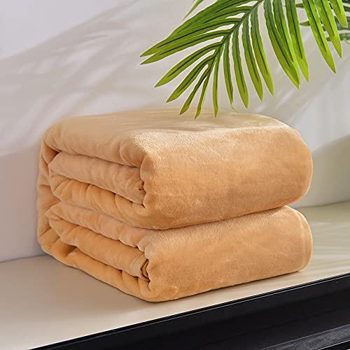 KLily Manta De Color Puro Terciopelo Grueso Dormitorio Doble Individual Sala De Estar Aire Acondicionado Manta Oficina Dormitorio Manta De Siesta Se Puede Lavar