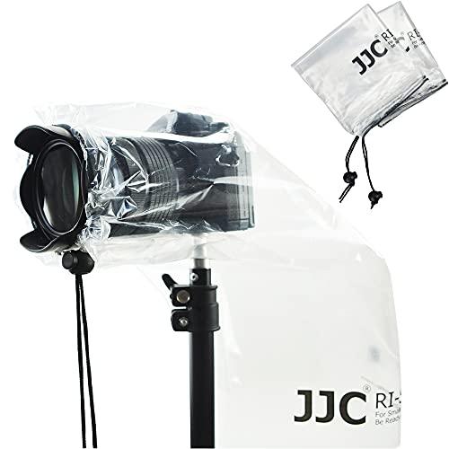 2 Pack Camera Lens Rain Cover Raincoat Clear Sleeve Protector for Sony A7R A7S A7C A6600 A6500 A6400 A6300 A6100 A6000 Nikon Z7II Z6II Z7 Z6 Z5 Z50 D780 D7500 D5600 D3500 Coolpix P950 P1000 B600 B500