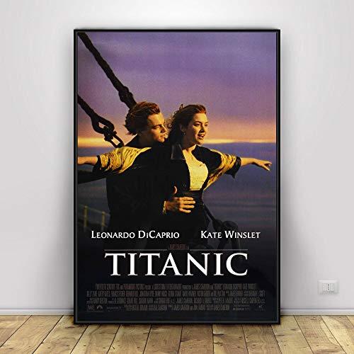 Titanic Hollywood Klassische Romantische Liebe Filmplakat und Druck Wandkunst Malerei Wohnkultur 30X45 cm