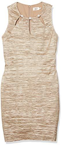 Eliza J Women's Plus Size Sheath Dress with Cutouts at Neckline - Beige - 22W