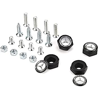NEW 4X Car Metal License Plate Frame Security Screw Bolt Caps Covers Fit For BMW