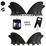 Ho Stevie! Quad Surfboard Fins (4 Fins) - FCS or Future Sizes, with Fin Bag, Screws, Wax Comb and Fin Key