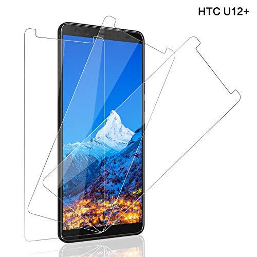 SNUNGPHIR Panzerglas Bildschirmschutzfolie für HTC U12+, [3 stück] 9H Festigkeit Panzerglasfolie, Anti-Kratzer Schutzglas, 3D Touch, Bläschenfrei Transparent, HTC U12+ Panzerglas Schutzfolie