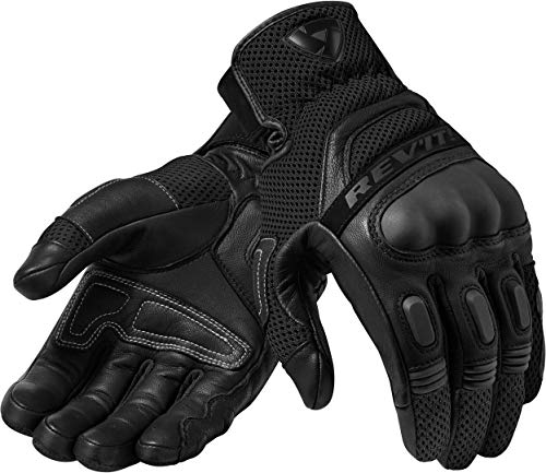 FGS139 - 1010-L - Rev It Dirt 3 Leather Motorcycle Gloves L Black