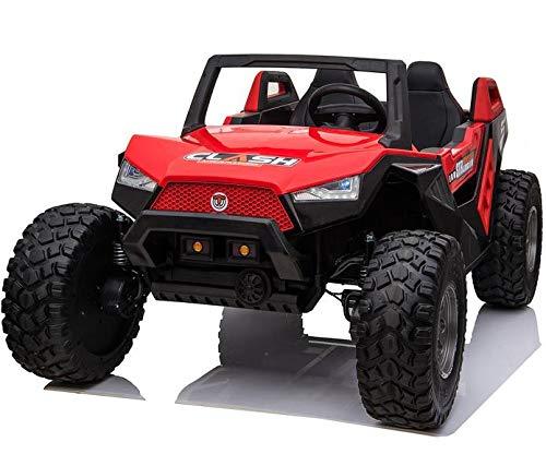 24V XXL Kids Ride On Truck Car w/Parent Remote Control, Spring Suspension, LED Lights, TV ADJUSTABILE SEAT AC Fan 9MPH