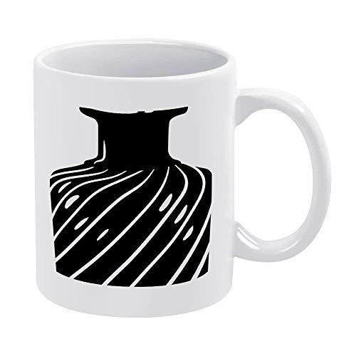 N\A Tazas de café Blanco de 11 oz, Botella de Perfume Antigua, Taza de Chocolate de cerámica Negra para Mujer, Jefe, Amigo, Empleado o cónyuge