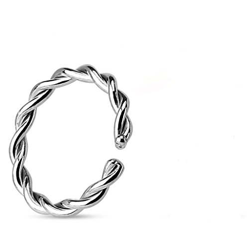 0,8 millimetri x 8mm ritorto design ricotto acciaio chirurgico Cut cartilagine del setto universale Piercing Jewellery