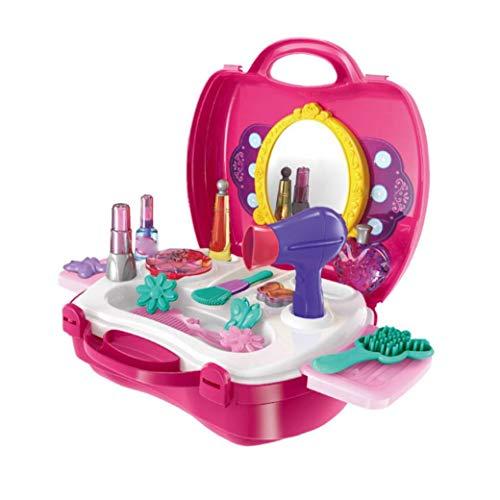 ruiting Kinder Pretend Makeup Box Spielzeug Mini-Schmuck Frisierkommode Zahnbürste Werkzeug-Set frühes pädagogisches Spielzeug für Kinder