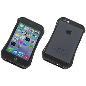 Deff ディーフ Cleave アルミニウムバンパー Aero iPhone5/5S/SE ダークナイトブラック DCB-IP55A6BK