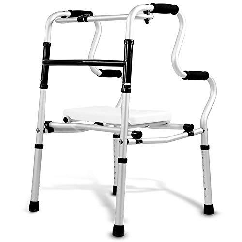 Standaard wandelaars wandelhulp wandelstok vierbenige wandelstok antislip wandelstok met ziekenhuis Ouderen Walker kan zitten opvouwbare Rollator lopen Frames