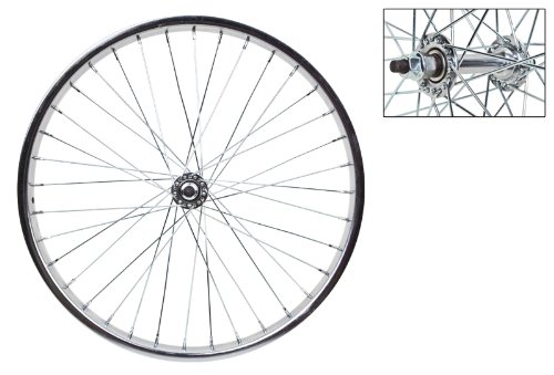 "Wheel Master 20"" x 1.75 Front Bicycle Wheel, 36H, Steel, Bolt On, Silver"