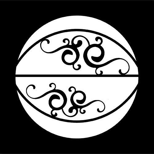 Rmtdczv 2 Stücke, schwarz Kreative Basketball Vinyl Auto Aufkleber Motorrad Fahrrad Gepäck Aufkleber Graffiti Patches Skateboard Aufkleber Für Laptop Aufkleber