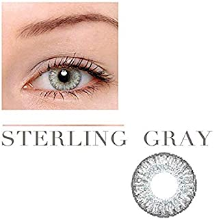 Women Multi-Color Contact Lenses Cosplay Eyes Cute Colored Charm and Attractive Cosmetic Makeup Eye Shadow (Gray)