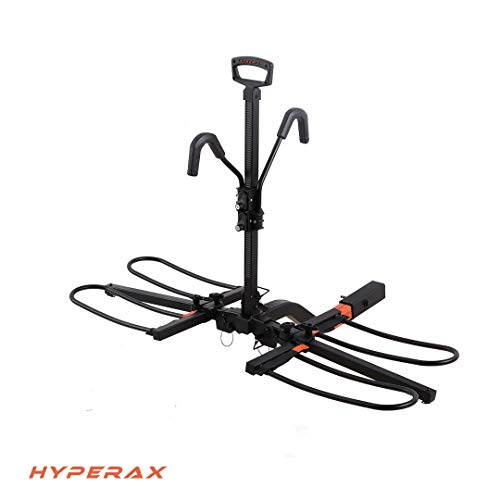 Hyperax RV Approved Hitch Mounted E Bike Rack Carrier for RV, Camper, Trailer with 2 inch Class 3 or...