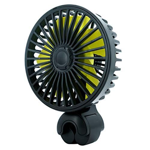 VICASKY Ventilador de Coche Ventilador de Vehículo Portátil Ventilador Eléctrico Montado en El Vehículo Ventilador USB Ventilador de Enfriamiento Automático para SUV RV Camión Home Office
