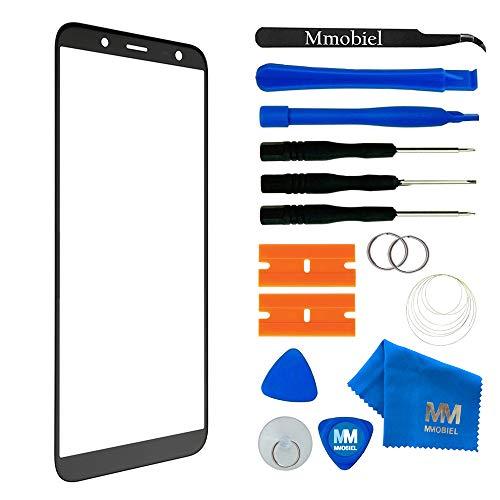 MMOBIEL Front Glas Reparatur Set kompatibel mit Samsung Galaxy J6 J600 (Schwarz) Display Touchscreen mit Werkzeug-Set
