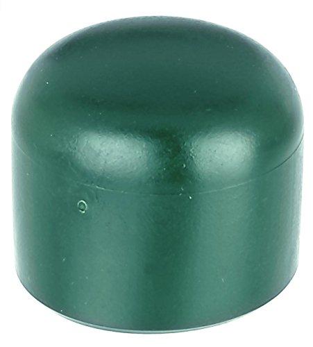 GAH-Alberts 654511 Pfostenkappe für runde Metallpfosten, grün, Ø34 mm / 20 Stück