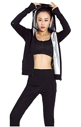 GUOCU Sports Ensemble de Yoga, jambières et jambières pour Femmes Jogging Yoga Gym Vêtements de Sport Stretch Vêtements de Sport Casual,ChapeauVeste,S