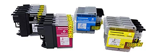 Cartuchos de impresora compatibles con Brother LC-980 XL LC980 XL Brother DCP-145C DCP-163C DCP-165C DCP-167C DCP-185C DCP-195C DCP-365CN DCP-373CW DCP-375CW DCP-377CW DCP-383C DCP-385C (10)