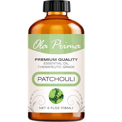 Ola Prima 4oz - Premium Quality Patchouli Essential Oil (4 Ounce Bottle) Therapeutic Grade Patchouli Oil