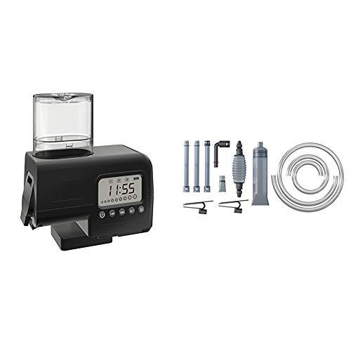 Juwel Aquarium 89010 SmartFeed - Futterautomat, Einheitsgröße, schwarz & 87022 AquaClean 2.0 - Bodengrund- und Filterreiniger, Einheitsgröße, transparent