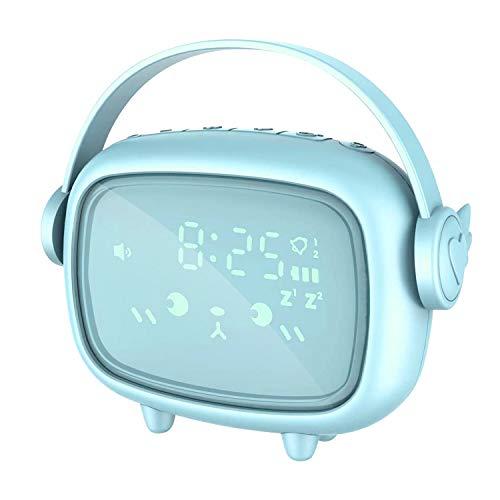 Despertador Digital, BZ Despertador Recargable con Luz Nocturna, Batería, Temporizador y Snooze, Reloj Despertador Digital Niños, Reloj Alarma Clock Despertador Infantil para Dormitorio y Ofic