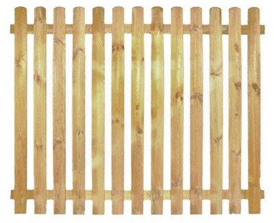 StaketenZaun 'Premium' 180x140/140cm - gerade – kdi / V2A Edelstahl Schrauben verschraubt - aus getrocknetem Holz glatt gehobelt – gerade Ausführung - kesseldruckimprägniert