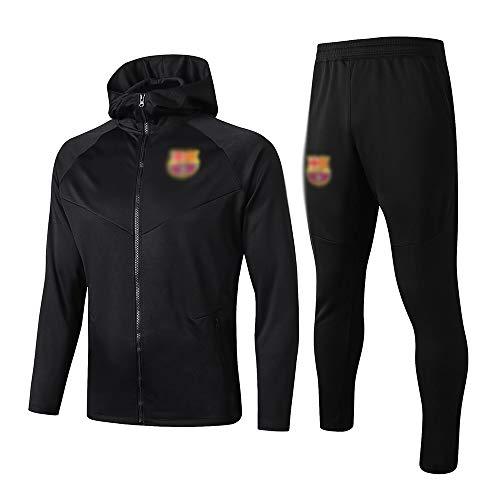 HIAO Camiseta del Club Europeo Chaqueta de fútbol del Club de fútbol de los Hombres Rompevientos Chaqueta y Pantalones de chándal Set Regalo del Muchacho LW0745 A00201 (Size : Large)