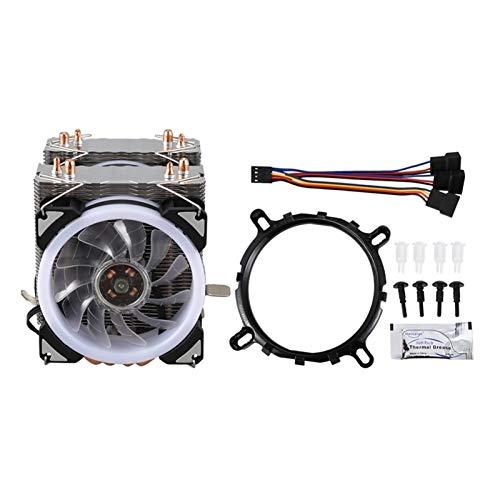 Ventilador de enfriamiento de alto rendimiento Radiador de la CPU 4 de cobre puro de la pipa de calor Dos torres de enfriamiento sistema de tres 9cm ventilador de la CPU AM CPU de refrigeración del ra