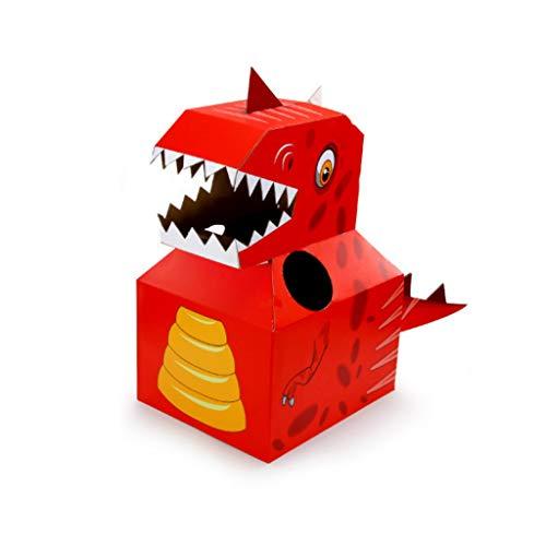 Caja de cartón de dinosaurio para niños, hecha a mano, rompecabezas, disfraz de cosplay