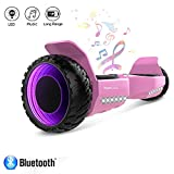 HYPER GOGO Hoverboard Self Balancing Scooter 6.5 inch Electric Scooter, UL 2272 Certified Self Balancing Hoverboard with LED Lights and Bluetooth Speaker and Carry Bag