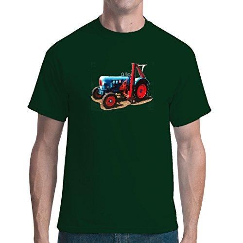 Im-Shirt Traktoren Unisex T Oldtimer-Traktor: Eicher Oldtimer mit Mähwerk by Bottle Green XL