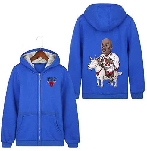 BBLTO Jersey para Hombre Chaqueta para Hombres/Mujeres Michael Jordan # 23 Sports Zip Basketball Hoodie Espesar Abrigo con Capucha Invierno Mejor Regalo Camisa Activa (Color : C, Size : Small)