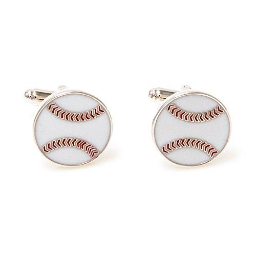 MRCUFF Baseball Pair Cufflinks in a Presentation Gift Box & Polishing Cloth