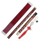 Mxzzand Juego de Instrumentos orquestales Tradicionales con Flauta de bambú seco Amargo C-Key con Caja de Almacenamiento ZD-02 para actuaciones al Aire Libre en Clubes de música