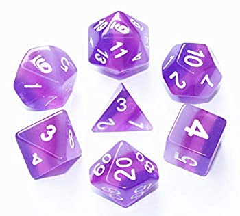 HD DND Dice Purple RPG Polyhedral Dice Set for Dungeons and Dragons D&D  Pathfinder Role Playing Game 4 Layers Translucent Dice