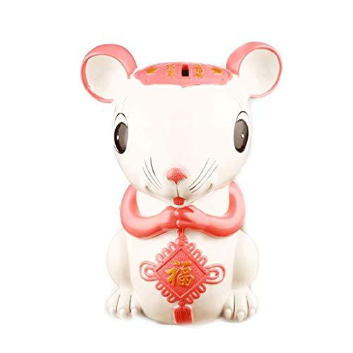 XHAEJ Chino Año Nuevo Auspicioso Auspicioso Forma de ratón Golden Piggy Bank Souvenir Chinese Style Hucha