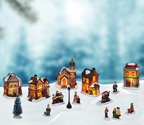 LD Weihnachten Deko Beleuchtete Weihnachtslandschaft Weihnachtsstadt Weihnachtsdorf Weihnachten Deko