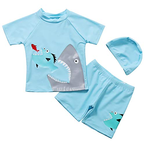 Achiyi Baby Toddler Boys Two Pieces Swimsuit Cartoon Swimwear Bathing Suit Rash Guards UPF 50+ 3XL