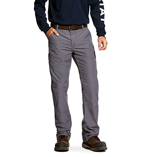 Ariat Men's Flame Resistant Work Pant, Grey, 42 x30