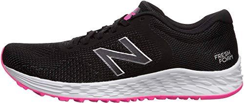 New Balance Women's Fresh Foam Arishi V2 Running Shoe, Black/Peony, 5.5 W US