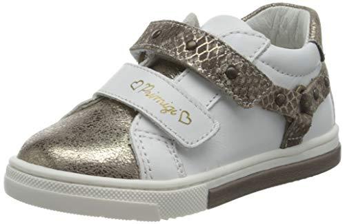 PRIMIGI Baby Mädchen PGR 64061 First Walker Shoe, Bianco/Taupe,23 EU